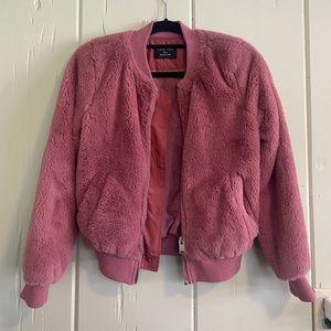 Love Tree Pink Bomber Jacket Size S